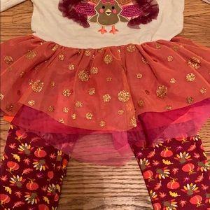 Little Lass Matching Sets - 24M Little Lass Thanksgiving Outfit